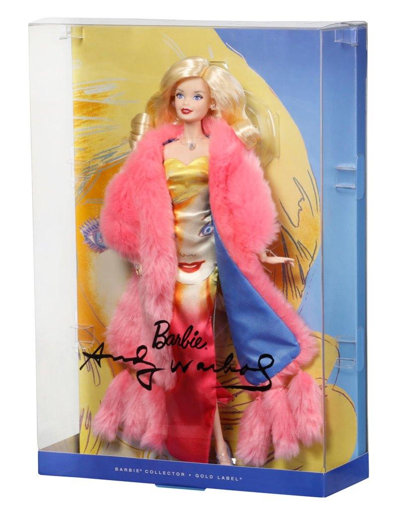 Barbie con vestido de Andy Warhol