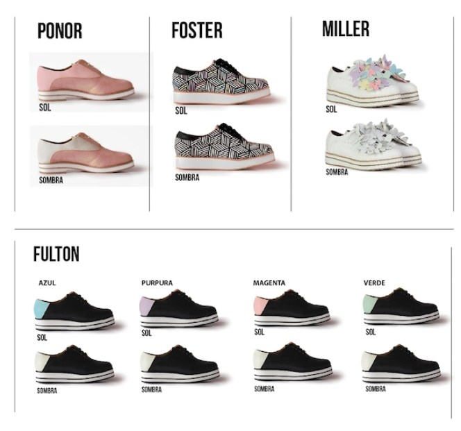 zapatos karen ruz cambian de color