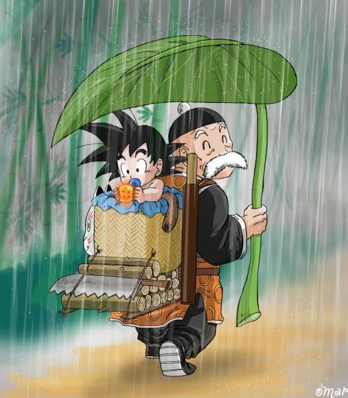Dragon Ball, ¡Oye Arnold!, Abuelas, Abuelos, Goku, Simpsons