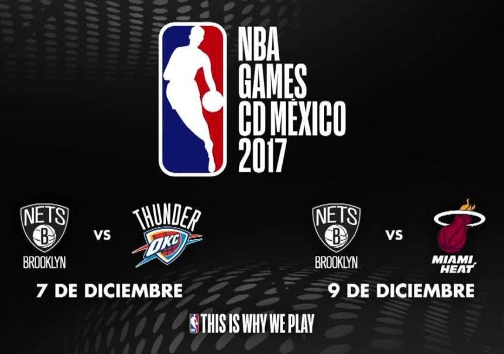 Juegos NBA en México, NBA México, Miami Heat, NBA, Nets, Boletos