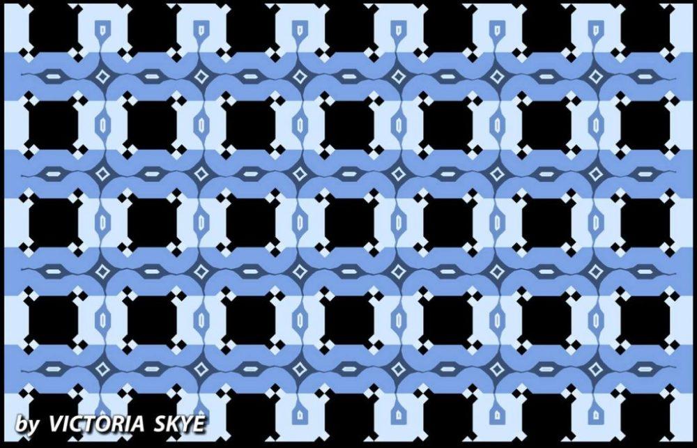 Ilusión óptica de líneas paralelas creada por Victoria Skye