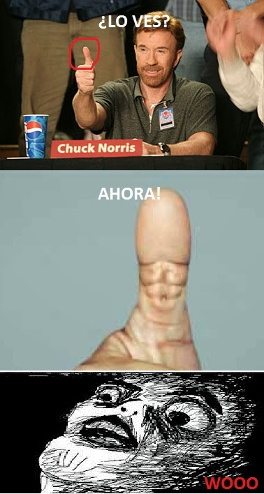 chuck norris meme pulgar