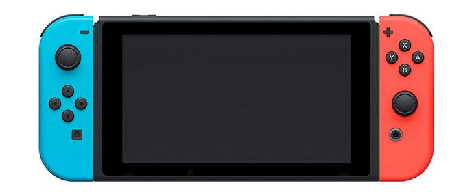 Nintendo Switch con Joy-cons azul y rojo