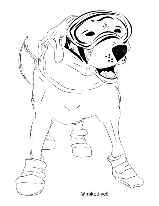 Fantástico Libro Para Colorear Perro Cresta - Páginas Para Colorear ...