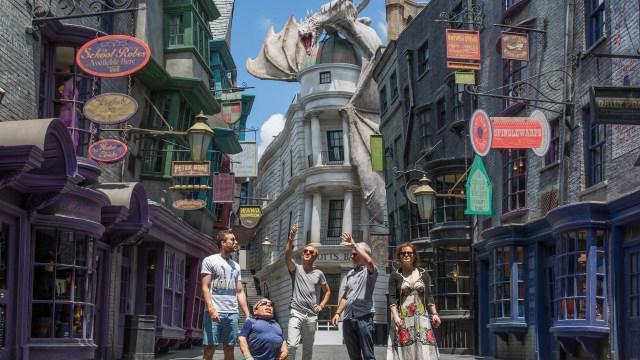 El Callejon Diagon, uno de los lugares en Harry Potter