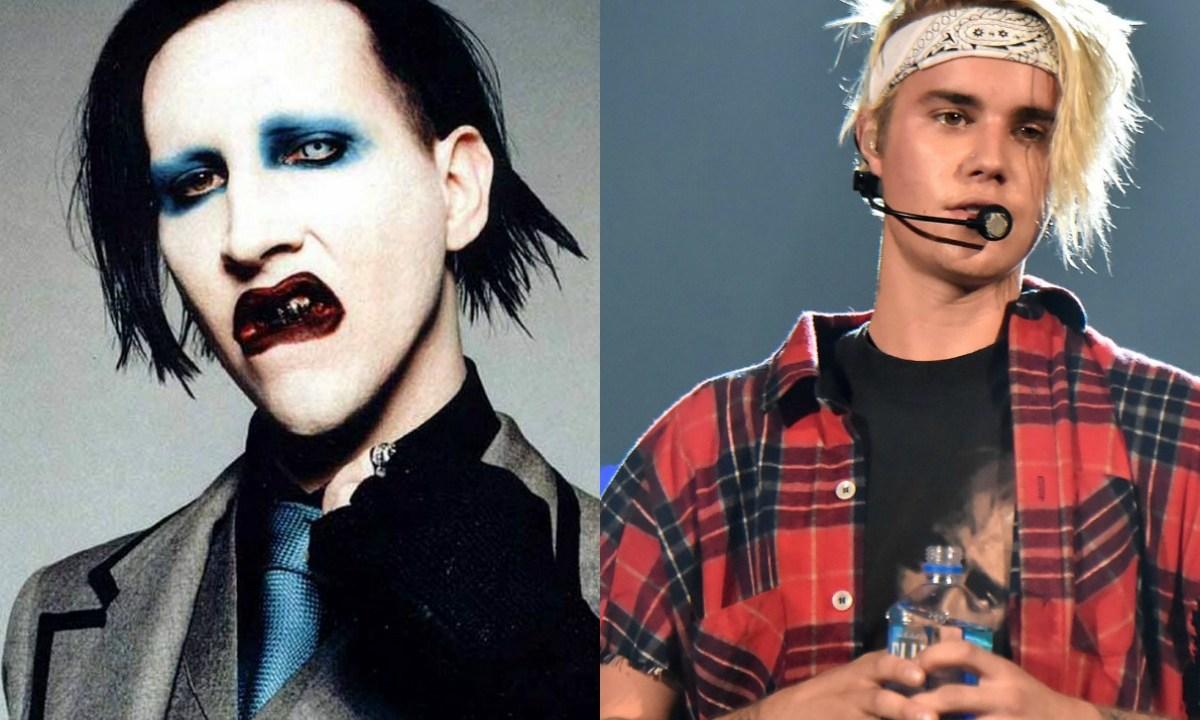 Marilyn Manson cree que Justin Bieber es un pedazo de mierda