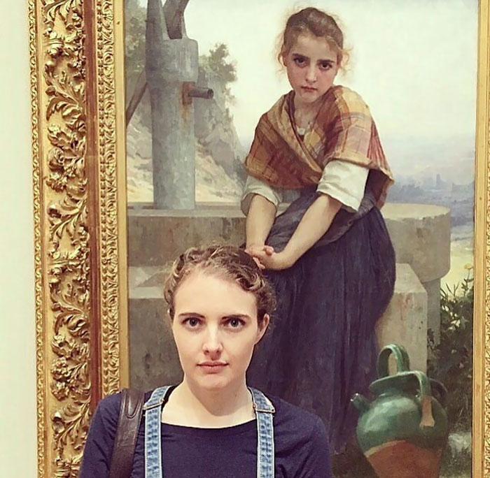 Personas que encontraron sus dobles en un museo