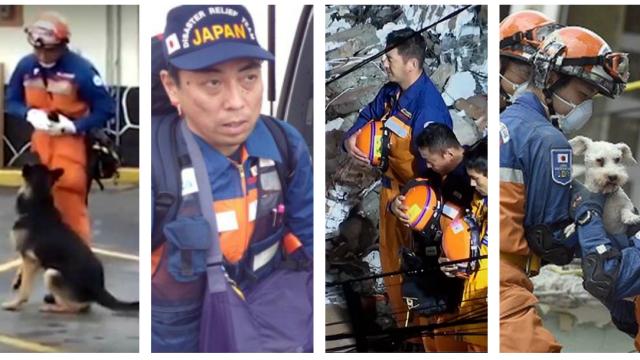 Rescatistas Japoneses, Japón, Rescatistas, Japoneses, Sismo, Escombros