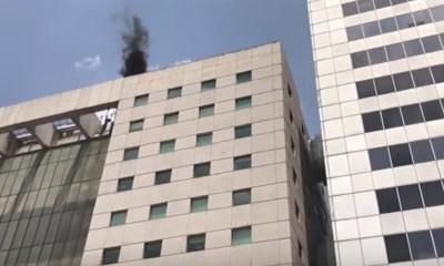 """Video: Se aparece """"la Muerte"""" sobre edificios durante sismo de la CDMX"""