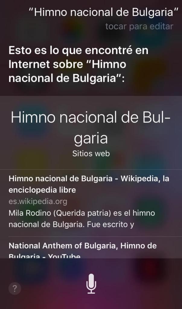 Siri confunde a Despacito con el himno nacional de Bulgaria