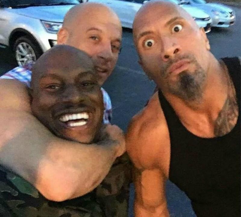 Rápido y Furioso, Tyrese Gibson, Dwayne Johnson, Vin Diesel, The Rock