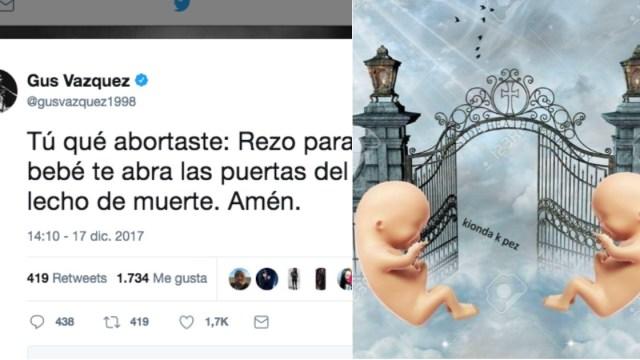 Las reacciones al tuit antiaborto de Guz Vázquez son hermosamente divinas