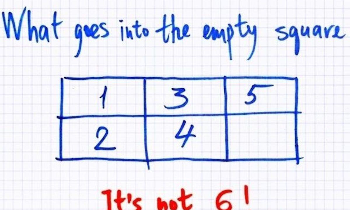 ¿Qué falta en el cuadro vacío? No, no es un 6