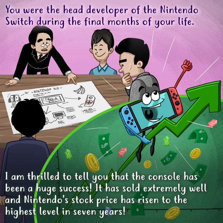 Carta de Wooden Plank Studios para el cumpleaños 58 de Satoru Iwata