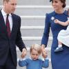 Los duques de Cambridge, con el príncipe Jorge y la princesa Charlotte