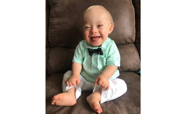 Lucas Warren, primer bebé Gerber con síndrome de Down