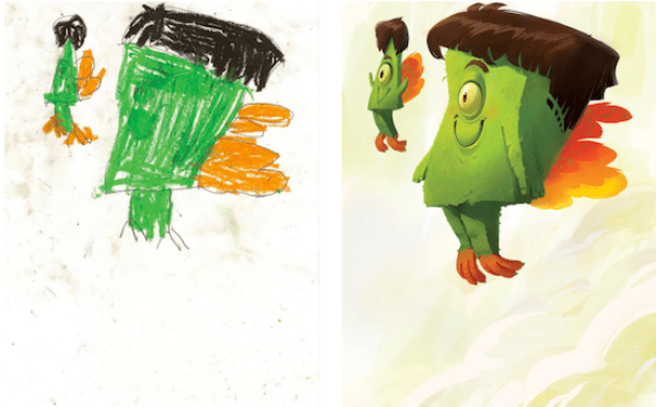 Artistas gráficos recrean dibujos hechos por niños, el resultado es increíble