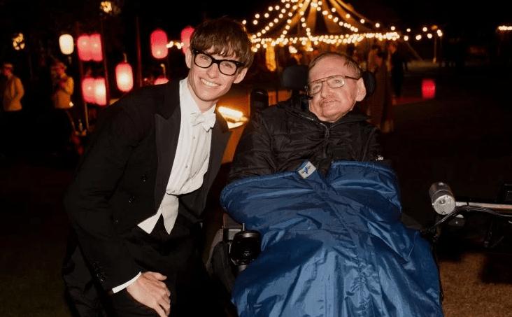 Eddie Redmayne y Stephen Hawking