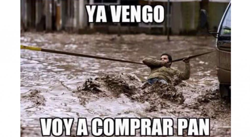 Memes y reacciones de la lluvia y el granizo en la CDMX