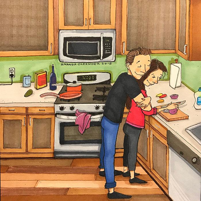 Ilustraciones-dibujos-relaciones-largas-parejas-reconoceran-tiernos-cocinar