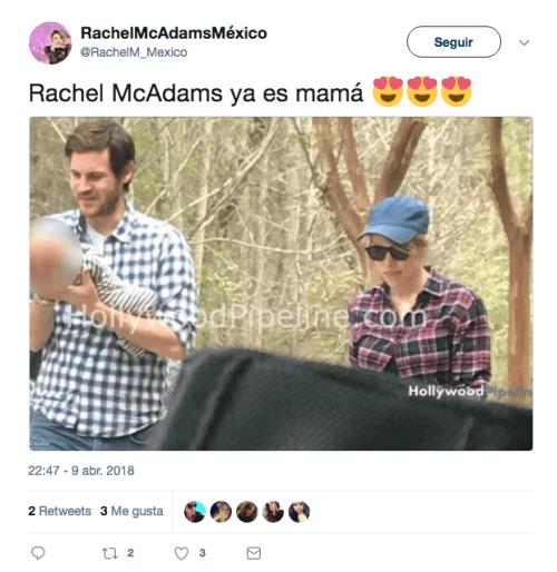 Rachel McAdams tuvo a su primer hijo