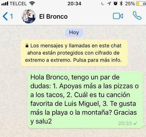 Meme bronco whatsapp