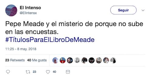 Internet Pepe Meade Candidato Libro Título