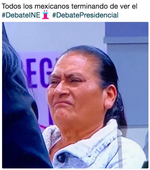 Memes del publico en el segundo debate presidencial
