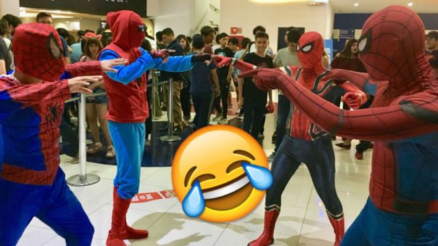 Recrean meme de avengers infinity war en el cine