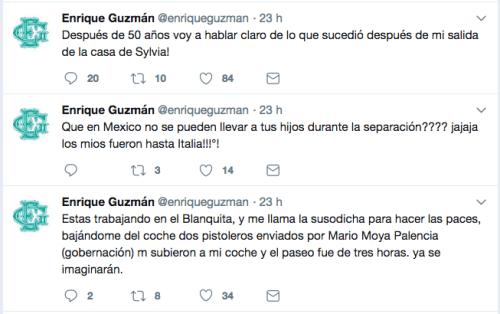 Enrique Guzman denuncia a Silvia Pinal