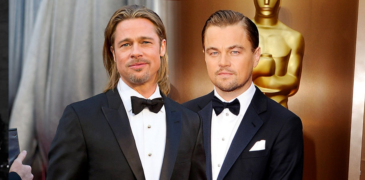 Foto Leonardo Di Caprio Brad Pitt enloqueciendo Internet