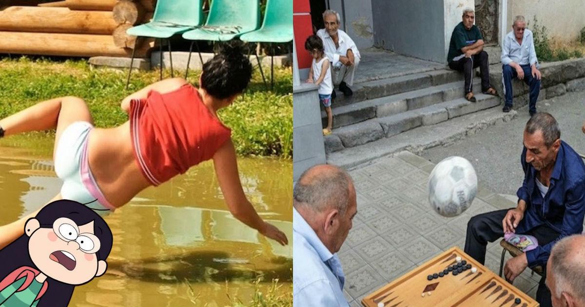 Fotos tomadas por personas que estuvieron en el lugar y momento exactos