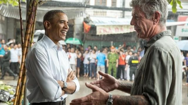 Barack Obama Anthony Bourdin Emotiva Despedida