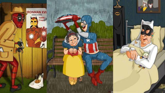 Así se ven tus personajes favoritos en su vejez