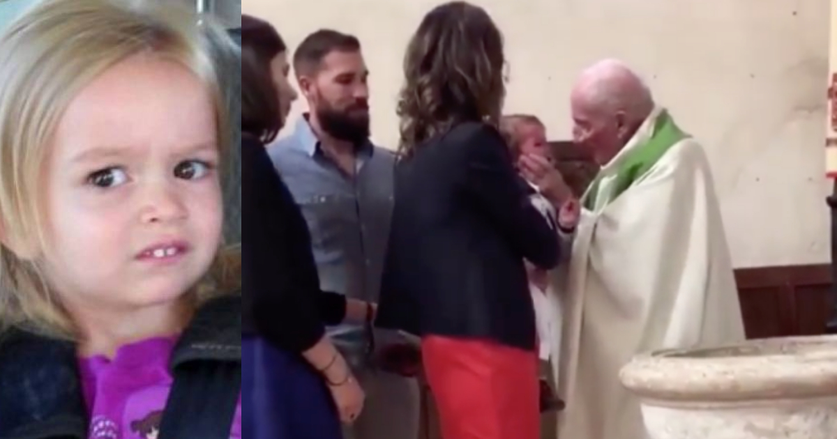 Sacerdote Abofetea Bebe Bautizo, Sacerdote Cachetea Bebe, Bautizo, Bebe, Francia, Video