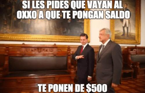 Memes encuentro amlo epn palacio nacional