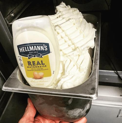Helado de mayonesa