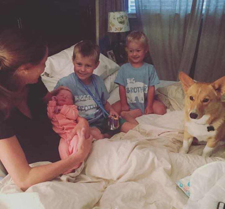 ranger-perro-ayuda-madre-humana-dar-luz