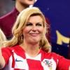La presidenta de Croacia es la mayor aficionada de su selección