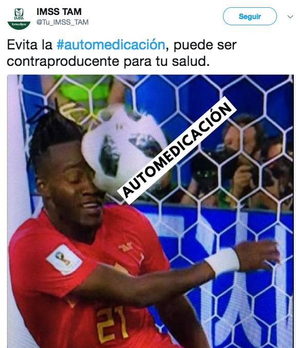 tuit-imss-neymar-partido-brasil-mexico-mundial-2018