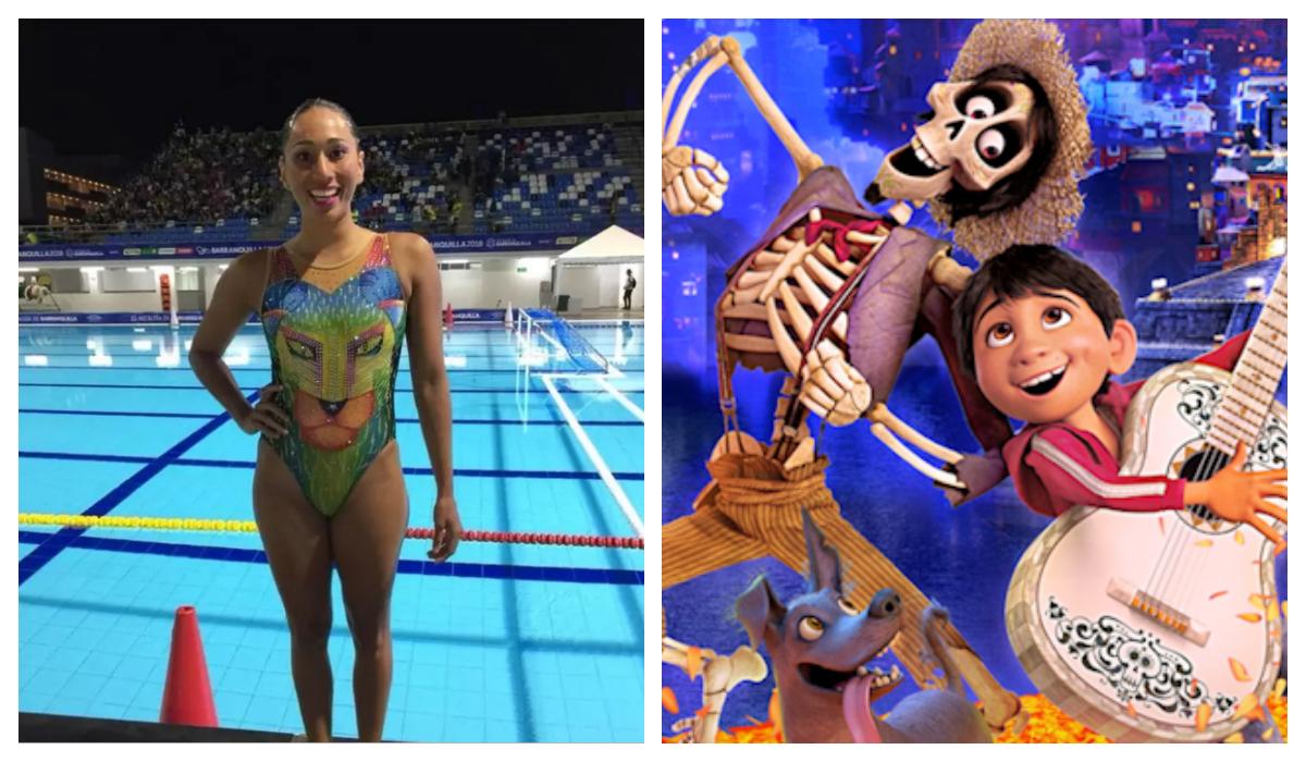 Equipo mexicano natación Trajes inspirados Película Coco