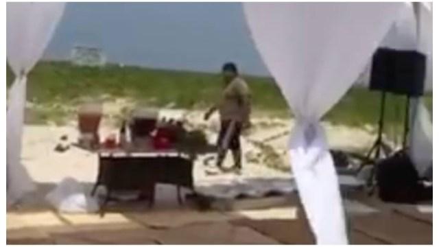 Chavorrucos aplastan tortugas Fiesta en Isla Veracruz