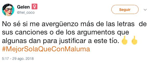 #MejorSolaQueConMaluma la campaña en redes contra Maluma