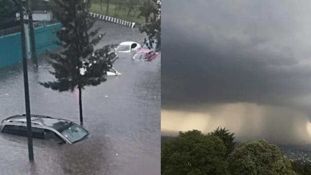 Fotos y videos de la lluvia de hoy