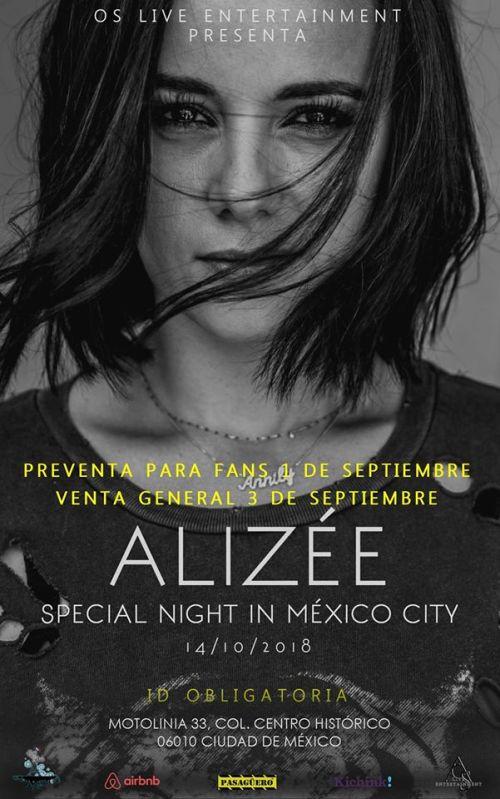 Alizee regresa a México