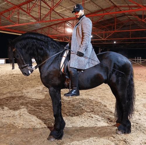 Maluma hace cuenta instagram caballo