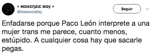 Critican a Paco leon por papel