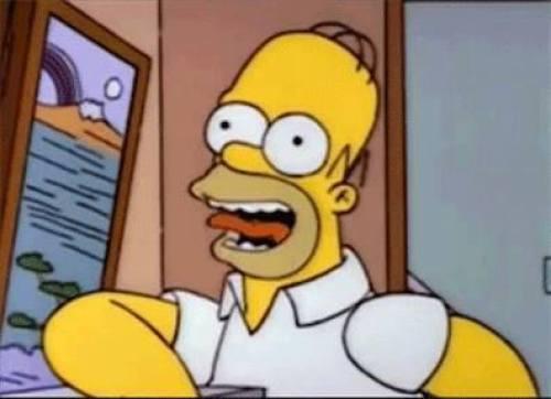 corta a su novio con diálogos de los Simpson