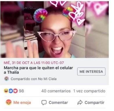 Se adelanta la marcha para quitarle a Thalía el Internet