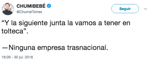 Tweet chumel torres toltecas